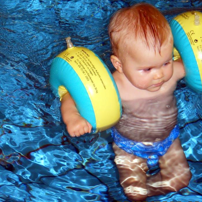 selbst schwimmen...
